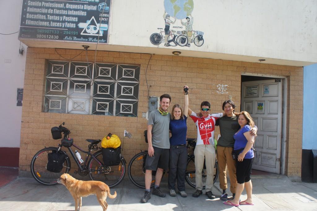 Départ de la casa de ciclistas