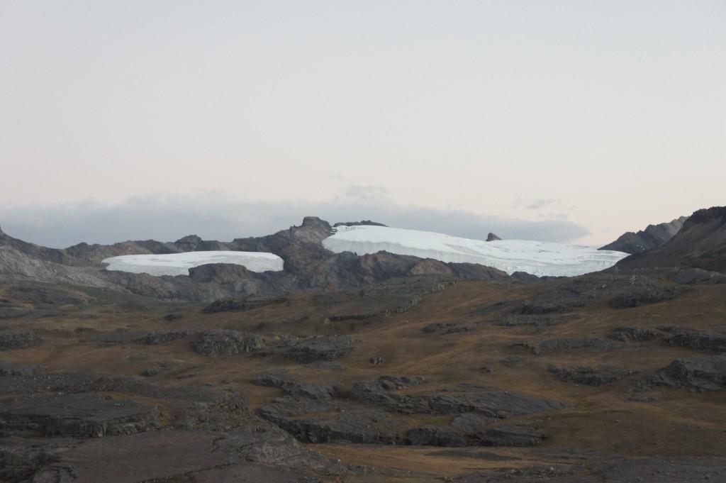 Glacier Pastoruri en fin de journée